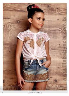 Saia Infantil e Blusa Infantil Diforini Moda Infanto Juvenil 121174