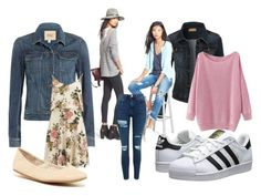 """""""Casual Style"""" by minicelebfashion on Polyvore featuring adidas Originals, LE3NO, KUT from the Kloth, Paige Denim, VILA, BCBGeneration and Topshop"""