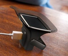 Ray is a solar powered charger for devices. The powerful suction cup and a tilting kickstand support multiple positions to capture the maximum amount of sunlight.