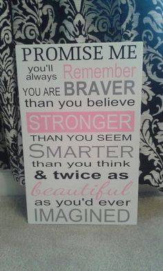 You are Braver than you believe Sign - Breast Cancer - by RadueDesignKeepsakes - $29.95