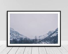 Mountains Calling, Mountain Calling, Foggy Tree Print, Fog Trees Print, Mist Fog Print, Foggy Moutains, Snowy Mountains   See it on Etsy -http://etsy.me/2rPuarX