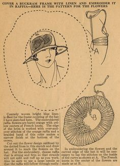 The Midvale Cottage Post: Home Sewing Tips from the 1920s - Create a Summer Linen Hat with Raffia Flowers