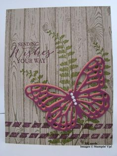 cQc #274, Razzleberry Butterfly by BK cards - Cards and Paper Crafts at Splitcoaststampers