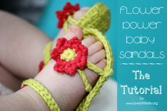 Post image for Flower Power Baby Sandals – the tutorial!!! need to try to make these