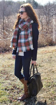 @H&M Plaid scarf, @Payless ShoeSource riding boots and @H&M military jacket  #beautybrawler