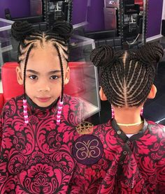 Braids for Kids, 50 Splendid Braid Styles for Girls, The Right Hair styles you can count on. Little Girl Braid Styles, Kid Braid Styles, Little Girl Braids, Black Girl Braids, Braids For Kids, Braids For Black Hair, Girls Braids, Hair Styles, Kid Braids