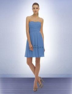 Bill Levkoff Bridesmaid Dress Style 320 in Cornflower Blue