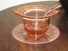 Depression Glass Mayo or Condiment Bowl 3 Piece by MountainShine, $25.00
