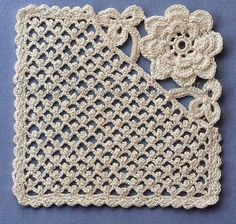 love this for a corner of a crochet project