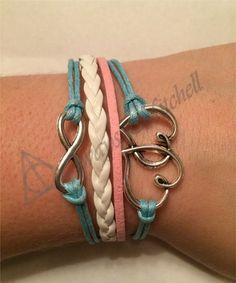Amazing Charm Bracelets for Cheap! Blue, Pink, White, Hearts, Infinity, Charm, Bracelet! Etsy.com