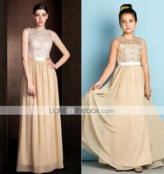 Champagne Chiffon Dresses in Juniors