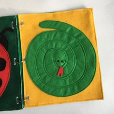 Snake Quiet Book Page Toddler Childrens Felt Busy Books image 5 The Snake, Felt Books, Quiet Books, Kids Travel Activities, Felt Material, Serpent, Busy Bags, Book Images, Ring Binder