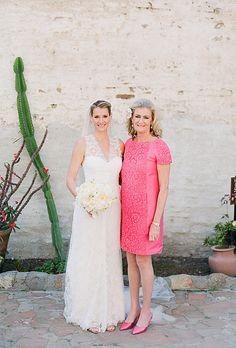 rosa abito da cerimonia pizzo