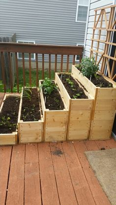 Vegetable boxes for the deck