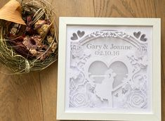 Excited to share the latest addition to my s Anniversary Gift For Her, Paper Anniversary, Anniversary Ideas, Diy Wedding Decorations, Decor Wedding, Rustic Wedding, Wedding Gifts For Newlyweds, Personalized Valentine's Day Gifts, Wedding Types