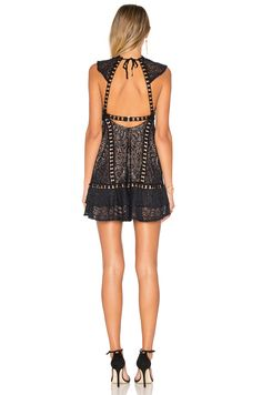 486d016655 For Love & Lemons Emerie Dress en Black | REVOLVE