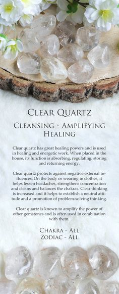Description of the many uses of quartz crystals for the average layman. How to benefit from quartz crystals. Chakra Crystals, Crystals And Gemstones, Stones And Crystals, Healing Gemstones, Gem Stones, Crystal Magic, Crystal Healing Stones, Clear Quartz Crystal, Quartz Clair