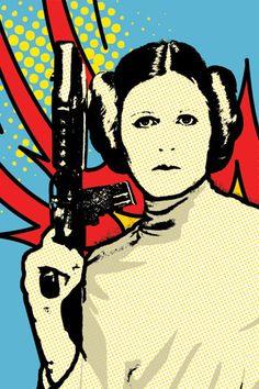 Illustration de la princesse LEIA Star Wars par ellasgoods sur Etsy