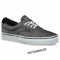 I just discovered this while shopping on Poshmark: Vans Era 59 (Chambray) Black/Polka Dots. Check it out! Price: $49 Size: 10