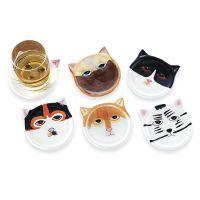 Cat Coasters Set of Six