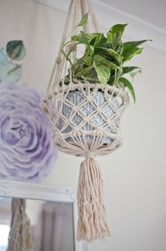 Hang this handmade piece indoors or outdoors with your favorite plant or succulent. Add a new dimension to your garden or indoor space with this beautiful single piece made from organic rope. This macramé is handmade and may differ slightly in design. Heart Wall, Wall Patterns, Single Piece, Plant Hanger, Peonies, Your Favorite, Macrame, Succulents, Planters
