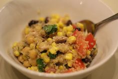 Southwest Quinoa Salad - all pantry/fridge staples, and it is so delicious and healthy!