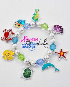 'Sin City Colorful Marine Life Charm Bracelet ' is going up for auction at  2pm Mon, Apr 1 with a starting bid of $5.
