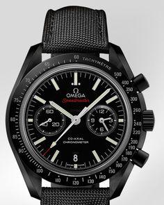 オメガ・ウォッチ: Speedmaster Moonwatch Omega Co-Axial Chronograph 44.25 mm - ブラックのセラミック & ナイロン - 311.92.44.51.01.003