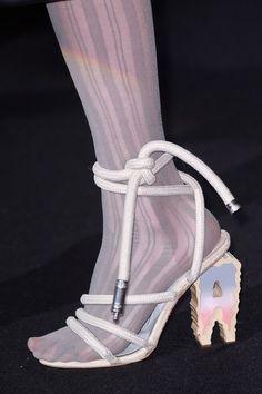 Acne Studios at Paris Fashion Week Fall 2016 - Details Runway Photos High Heels, Shoes Heels, Pumps, Acne Studios, Runway Shoes, 2000s Fashion, Paris Fashion, Walk This Way, Crazy Shoes