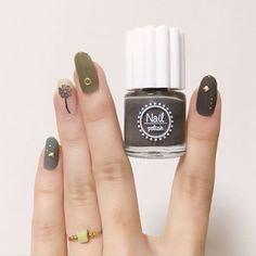 Trendy Nails, Cute Nails, My Nails, Holiday Nail Colors, Sunflower Nail Art, Self Nail, Korean Nails, Soft Nails, Marble Nail Designs