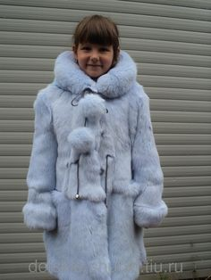Classic rabbit fur jacket | Enfants en fourrure | Pinterest ...