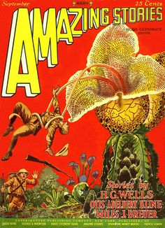 Amazing Stories. #triffid #scifi #wells