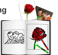 make free coloring book from your pictures
