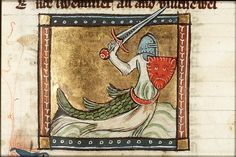 A zitiron is a strange beast - a man-knight riding on or fused with a fish body - found depicted in some medieval manuscripts  Book of Hours of William Lord Hastings, around 1480.