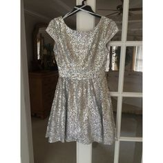 B. Darlin Sparkly Cocktail Dress Low cut back, barely worn, new condition, short sleeved B. Darlin Dresses Mini