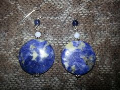 Artisan Handcrafted Lapis Lazuli Blue Agate by AngelStarJewelry, $25.00