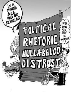 Business Cartoon - Political rhetoric August 23, 2013