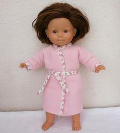 Robe de chambre bien douillette pour poupée de 36 cm - MCL Poupées