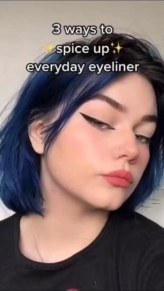 Emo Makeup, Cute Makeup, Pretty Makeup, Simple Makeup, Hair Makeup, Makeup Inspo, Makeup Eye Looks, Eyeliner Looks, No Eyeliner Makeup