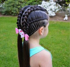 Today's braids inspired by lovely Beth to wish her a very happy Birthday🎉 Hope you are having a wonderful day🌸 Adorable… Lil Girl Hairstyles, Cute Hairstyles For Kids, Princess Hairstyles, Pretty Hairstyles, Braided Hairstyles, Hairdos, Short Hairstyles, Girl Hair Dos, Natural Hair Styles