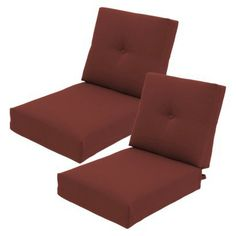 Threshold™ Squier Replacement Club Chair & Loveseat Cushion Set in Red available at Target. Outdoor Cushions, Club Chairs, Latest Fashion, Love Seat, Target, Amp, House, Outdoor Swing Cushions, Home