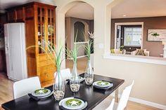 #Interiordesignphotography, #kitchen, #diningroom, #clean, #talltransparentvase, #Victoria, #BC, #Canada, #victoriaphotography #vancouverisland #bcphotographer, #karaphotography