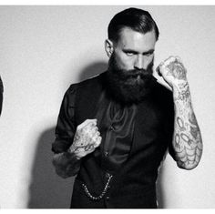 Ricki Hall.... Tattoos and beards..... Sexy.