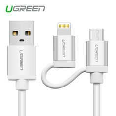 Ugreen Micro USB Cable Charging Cable for  iPhone 6 6s 5s iPad for Xiaomi/Huawei Samsung 2 in 1 MFi Data Sync & Charging Cables #>=#>=#>=#>=#> Click on the pin to check out discount price, color, size, shipping, etc. Save and like it!