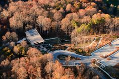 Fall 2015 Aerial photo of Robinson Nature Center