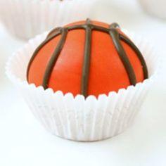 Basketball Cake Balls: Basketball Cake Balls