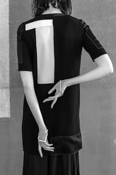 Geometric fashion details with panels & cut outs; contemporary fashion // Holly Ryan Winter 2015