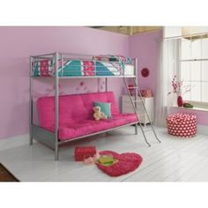 £352 Metal Fuchsia Futon Bunk Bed with Finley Mattress at Argos.co.uk - Your Online Shop for Children's beds.