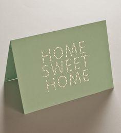 Home Sweet Home card and envelope set | Studio Sarah.