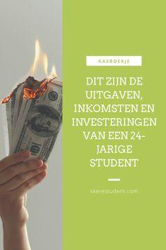Ben jij ook altijd zo nieuwsgierig naar andermans portemonnee? Op SkereStudent.com geef ik je een kijkje in mijn kasboekje, en vertel ik je wat mijn inkomsten, uitgaven en investeringen waren deze maand. Spoiler alert: Ik investeerde meer dan €2100 in aandelen en ETF's deze maand! Blog Tips, Interview, Mindset, Dutch, Budget, Money, Group, Lifestyle, Awesome